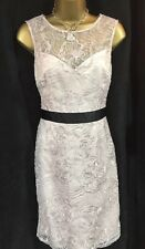 Lipsy VIP Pencil Shift Dress 10 Lace Sequin Blush Pink Evening Party Wedding