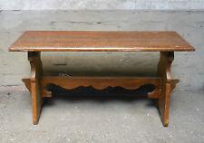 Panca panchetta noce inizio XX secolo con elementi antichi cm. 45x86x30