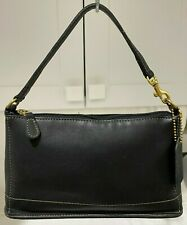 COACH Vintage 9311 Small black leather Baguette/wristlet