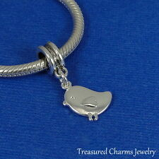 Silver Baby Chick Charm - Baby Bird Chicken Easter Farm Animal Pendant NEW