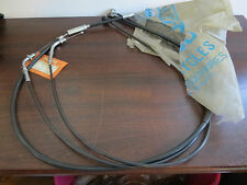 "NOS INCOMP Black Hi-Bar Cable Kit 12"" Longer Kawasaki H2 750 Mach IV 72 73 74 75"