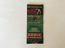 """Matchbook Cover """"ANCHOR LAUNDRY"""" Zoric Dry Cleaning   **LOOK**"""