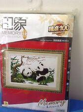 Memory  Cross Stiches Kit #MD051- (2)Playing Panda