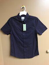 Mens Navy Print Short Sleeve Button Front Goodfellow Top XL
