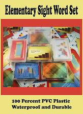 100 Percent Pvc Plastic Elementary Sight Words Flash Cards - Preschool, Kinderga