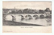 Kelso Bridge & Abbey Roxburgh Pre 1914 A Macgregor Old Postcard Postally Unused