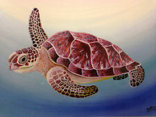 Sea Turtle, Bulldog, or Horse Watercolor Paintings by R Mastrogiovanni (859 Pro)