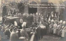 AK Beisetzung der Deutschen Kaiserin Leichenwagen vor dem Antiken Tempel 1921