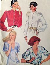 Vtg UC McCall 6964 Sew Pattern Liz Claiborne Blouse Asymmetrical Mandarin Collar