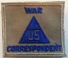Civilian War Correspondent US WW2 embroidered on twill Patch