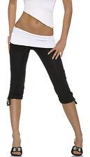 Damen Chino Capri Hose Stretch Sport leggings 3/4 Strumpfhose (400)