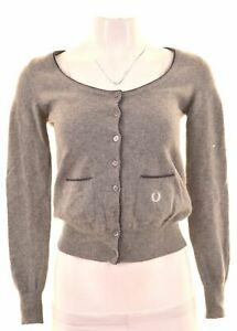 Small Cotton Red FRED PERRY Womens Jumper