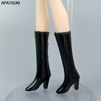 """Black Fashion Doll Shoes For 11.5"""" 1/6 Doll Accessories High Heel Boots DIY Toys"""