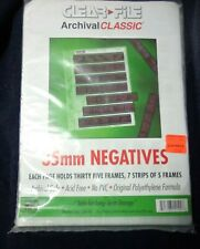 Clear File 35mm Negative storage pages - package has 68 of 100 - New