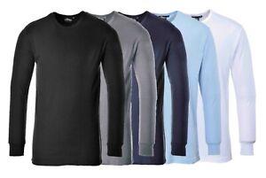 PORTWEST Thermal T-Shirt Long Sleeve Baselayer Winter Comfort Long Johns B123