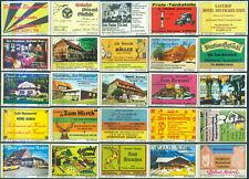 25 alte Gasthaus-Streichholzetiketten aus Deutschland #902