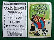 CALCIATORI 1989-90 BOLOGNA - ADESIVO FUORI RACCOLTA Figurina Sticker Panini NEW