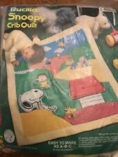 Vintage Bucilla Snoopy Crib Quilt Kit No. 48826