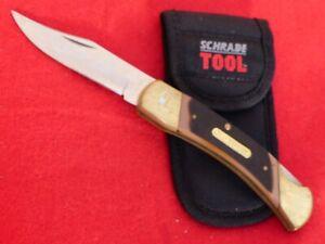 """Schrade mint 7OT lockback 5"""" closed Old Timer knife & sheath"""