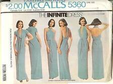 Vintage 70s McCalls 5360 Infinite Dress Sewing Pattern Misses Size Hips 32-38