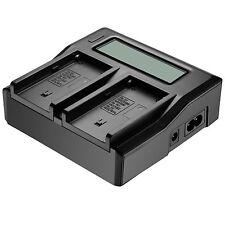 LCD Bildschirm 2Akku Ladegerät Für Sony NP-F970 F960 F950 F770 F750 F550 UK Plug