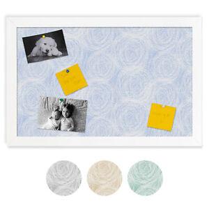 ArtToFrames Custom Cork Bulletin Board Abstracts Framed in Satin White Frame
