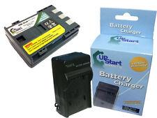 Battery +Charger for Canon VIXIA HV30, HV30, ZR500, ZR850, E160814, ZR600