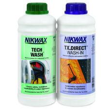 Nikwax Tech Wash & Tx Direct 1 L Twin Pack nettoyage étanche extérieur preuve