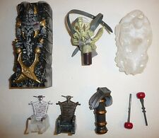 Mega Bloks Parts and Pieces Lot - Throne Chairs Canon Dragon Ice Skull + More