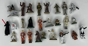 Star Wars Micro Machines figures lot of 26 Yoda Darth Vader R2D2 And More!