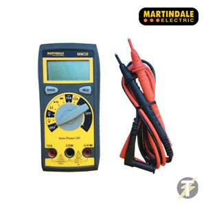 Martindale Digital Multimeter With Test Leads - Auto Ranging Feature MM39