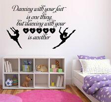 Dancing with your feet, Ballet, Dance, Girls, Wall art vinyl decal sticker