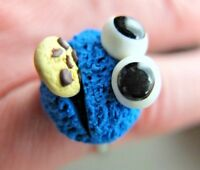 Krümelmonster Ring Karnevalsschmuck Faschingsparty Cookie Monster Schmuck Fimo