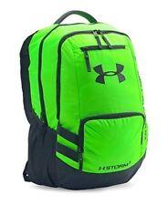 Under Armour 1263964 Hustle Backpack II in Hyper Green Stealth Grey 8f3ac46f8b526