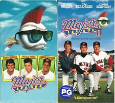 Major League VHS 1990 & Major League II 1994 Lot of 2 Charlie Sheen Baseball VTG