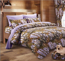 Lavender The Woods Woodland Camo Twin Comforter-Free Ship