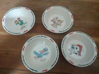 1995 Kellogg Cereal Bowls Frosted Flakes/ Fruit Loop/ Rice Crispies/ Corn Flakes