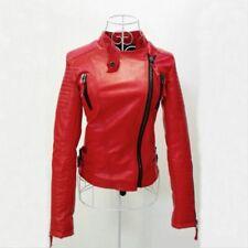 veste rouge style simili cuir taille L