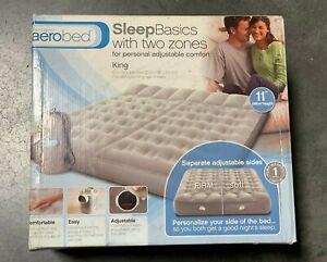 Aerobed Sleep Basics 2 Zone - King Air Bed w 120 Volt Air Pump | New | DMG Box 1