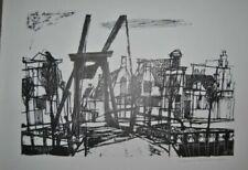 Kunstdrucke mit Architektur-Motiv und Lithographie-Technik Handsignierte