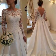 New Lace White/ivory Wedding dress Bridal Gown Stock size 6/8/10/12/14/16