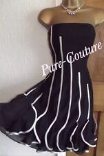 Beautiful ❤️ V Coast Black Floaty Dress Size 8 Wedding Occasion Party