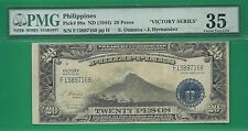 US PHILIPPINES 1944 (ND) TWENTY PESO VICTORY SERIES 66 P-98a PMG CHOICE VF 35