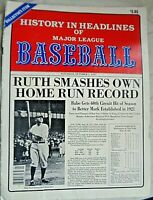 Baseball History in Headlines of Major League 1927-1966 Newsprint 48 Pages 11x14
