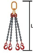 1m Élingue chaîne 4 brins  grade 80 Crochet à linguet