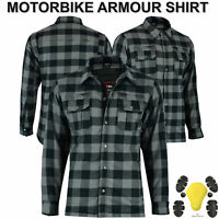 Motorbike Lumberjack Flannel Shirt Armoured Motorcycle Shirts CE Protection UK