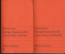 """Jürgen Habermas: Stichwort zur """"Geistigen Situation der Zeit"""" (Band 1+2 1979)"""