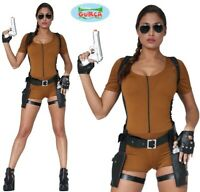 Ladies Tomb Adventurer Lady Fancy Dress Costume Womens Lara Outfit fg