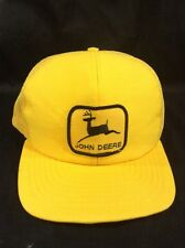Vtg John Deere Hat Yellow Patched Snapback Country Trucker Cap