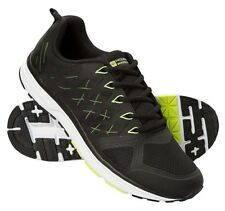 MOUNTAIN WAREHOUSE Men's HIGH SPEED Black/Volt Green TRAINER SHOES - 10 / 43